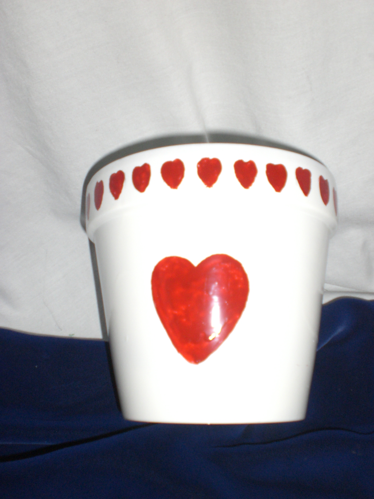 Candy Coated - Terra Cotta Pot painted for Valentines Day