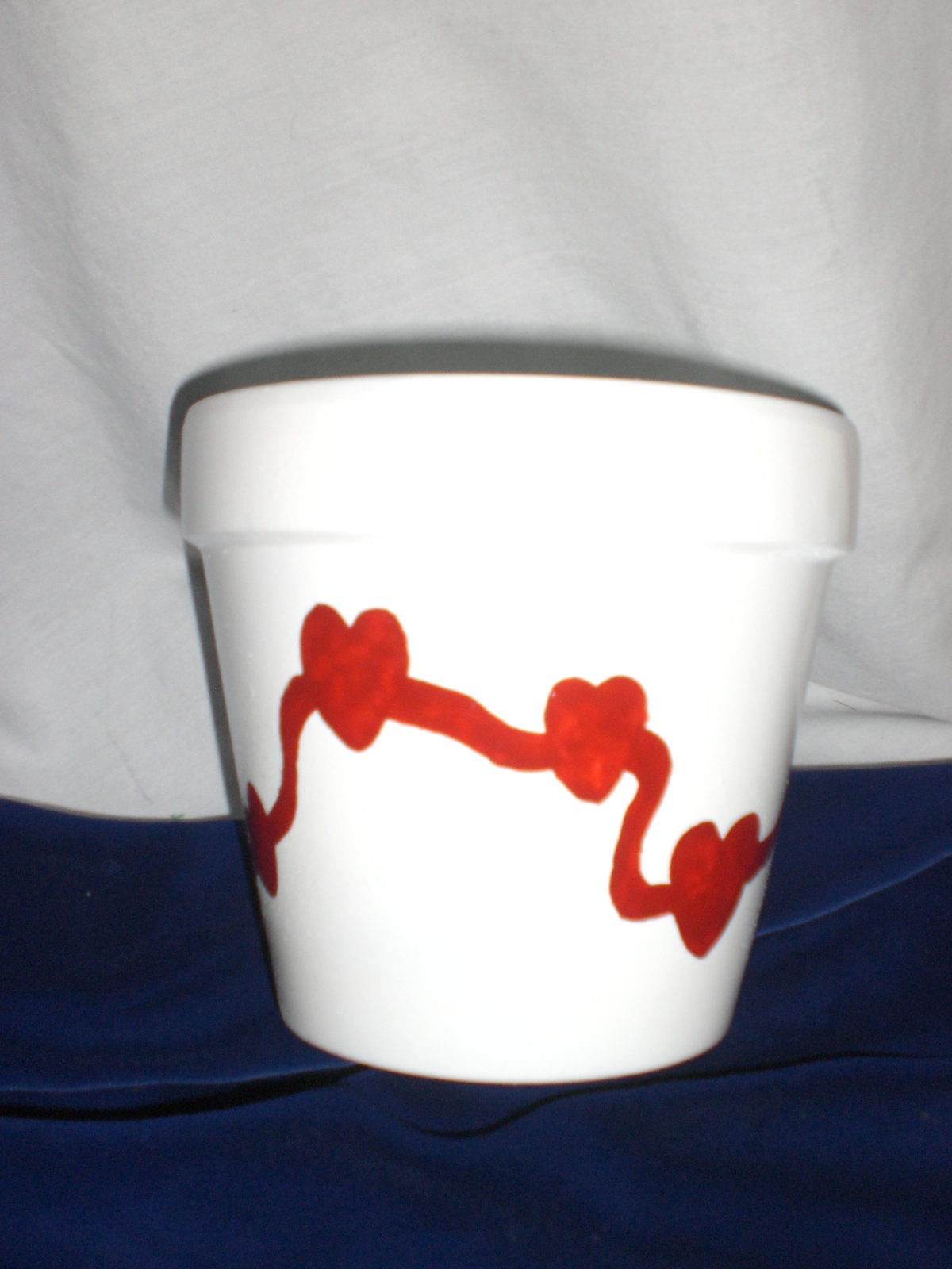 Naughty - Hand Painted Terra Cotta pot for Valentine's Day-001