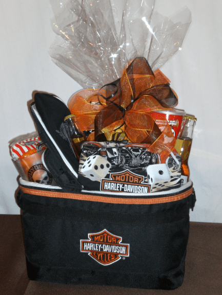 Sports-Enthusiast-Gift-Basket-Check-out-the-Harley-Cooler-unwrapped-version-only