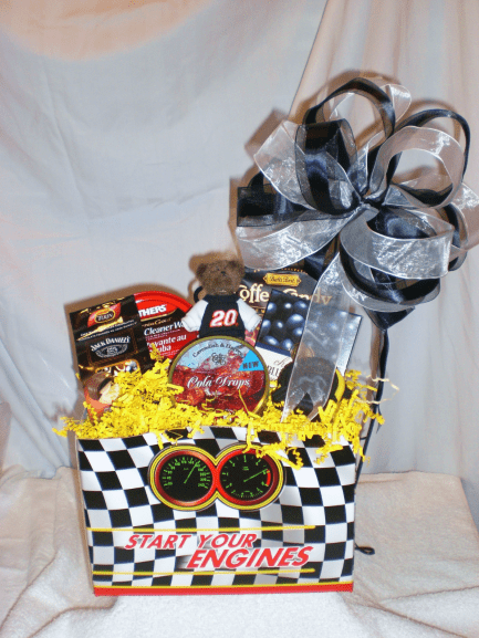 Sports-Enthusiast-Gift-Basket-Start-Your-Engines-unwrapped-version