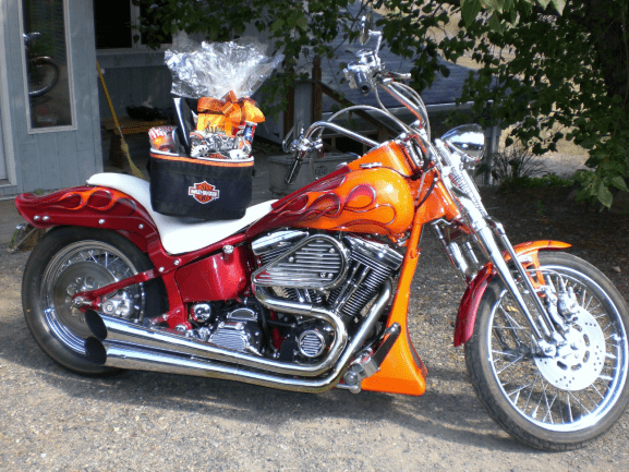 Sports-Enthusiast-Gift-Basket-Sweet-Ride-Harley-Cooler-Basket-unwrapped-version-only
