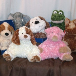A Lot of Stuffies - available to be placed in gift baskets
