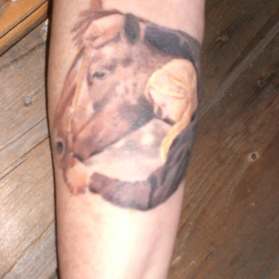 Cathy's Arm Tattoo - my horse and I
