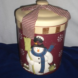 Christmas Cookies - complete photo of cookie jar - unwrapped