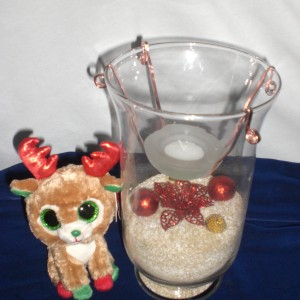 Designed Christmas Glass Candle 2nd - unwrapped version only