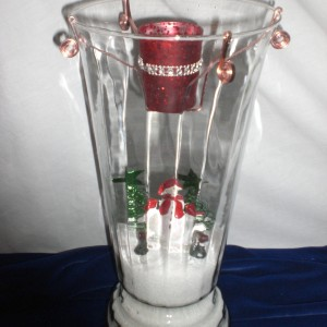 Designed Christmas Glass Candle - 4th - unwrapped version