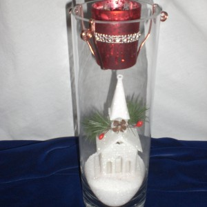 Designed Christmas Glass Candle - 5th - unwrapped version