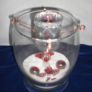 Designed Christmas Glass Candle 6th - unwrapped version