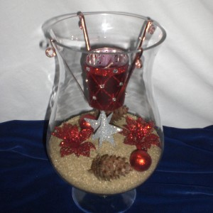 Designed Christmas Glass Candle - larger version - unwrapped only