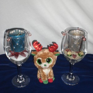 Designed Christmas Glass Candles - unwrapped version only