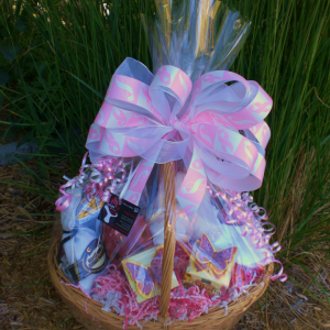 Donated Basket To The Pink Ribbon Ball - wrapped version