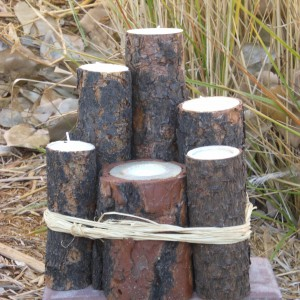Log Candle Holders - unwrapped version