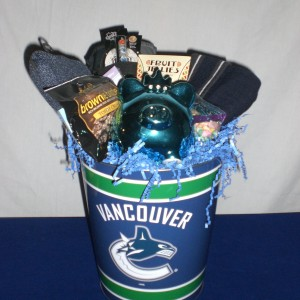 Vancouver Canuck Christmas Basket - unwrapped-version