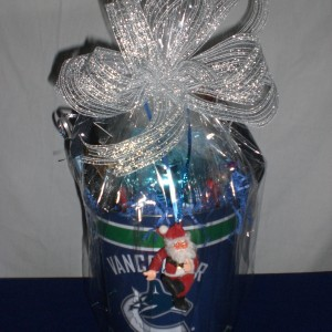 Vancouver Canuck Gift Basket - wrapped-version